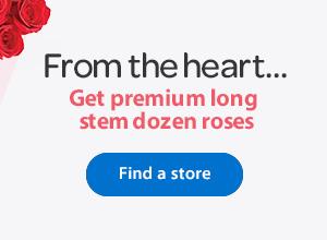 Get premium long stem dozen roses