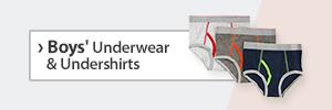 Boys' Underwear and Undershirts